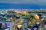 首都高中央環状線俯瞰夜景(東京都北区王子)