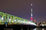 木根川橋と東京スカイツリー(東京都葛飾区東四つ木)