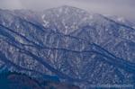冬の白木峰方面遠望(富山県富山市八尾町栃折)
