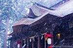雪の熊野大社(山形県南陽市宮内)