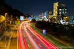 稲毛陸橋からの夜景(千葉県千葉市稲毛区稲丘町)