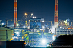 君津製鉄所工場夜景(千葉県君津市大和田)