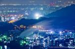 水島臨海工業地帯の夜景(岡山県倉敷市呼松町)