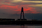 大師橋と朝焼けの空(神奈川県川崎市川崎区大師河原)