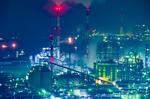 水島臨海工業地帯夜景(岡山県倉敷市呼松町)
