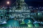 横浜工場夜景【HDRi】(神奈川県横浜市中区本牧荒井)