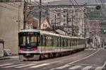 大津市路面電車風景 京阪電車京津線【HDRi】(滋賀県大津市中央)