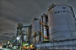 東京菱光コンクリート工場夜景【HDRi】(東京都港区港南)