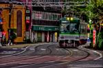 京阪石山坂本線 路面電車風景【HDRi】(滋賀県大津市浜大津)