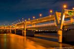 首都高速新荒川橋夜景(東京都足立区千住曙町)