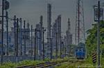 工場地帯の臨海鉄道風景【HDRi】(千葉県市原市五井海岸)