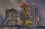 石油コンビナート夜景【HDRi】(神奈川県川崎市川崎区浮島町)