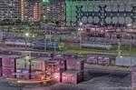 夜の隅田川貨物駅【HDRi】(東京都荒川区南千住)