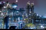 京浜工業地帯 工場夜景(神奈川県川崎市川崎区浮島町)