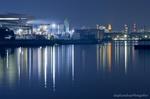 千鳥運河沿いの工場夜景(神奈川県川崎市川崎区夜光)