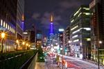 浜松町駅前夜景(東京都港区浜松町)