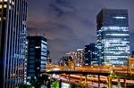 首都高浜崎橋JCT夜景(東京都港区海岸)