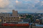 夕刻の高岡駅南風景(富山県高岡市下関町)