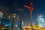 タワークレーンの夜景(東京都港区海岸)