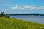 常陸利根川と筑波山(千葉県香取市加藤洲)