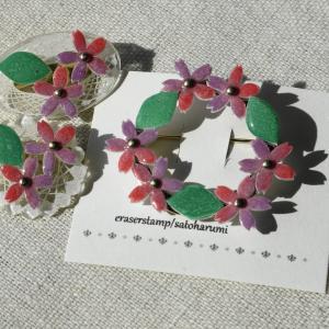 桜のブローチ 3種類出来上がり