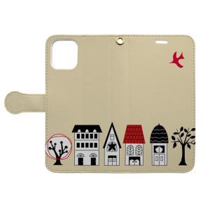 家並みの手帳型iphoneケース