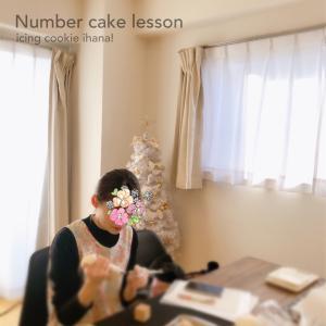 クリスマスをナンバーケーキで♡