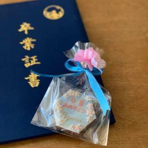 卒業の記念に桜と青空のクッキー。