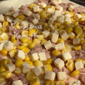 ツナマヨコーンパン焼きました◌゚・。.✼゚*。♩.