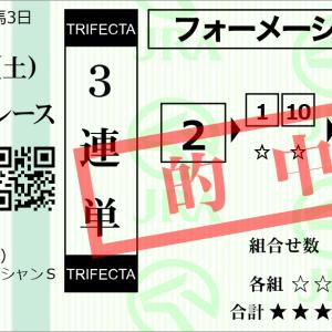 重賞回顧3/7(土)【G3オーシャンS-2020☆3連単本線的中V^^)】3番人気〇10番ナックビーナスが4年連続指定席(2着)確保