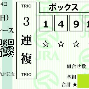 【週末の狙い】2020/8/23(日)G3北九州記念 最終決断