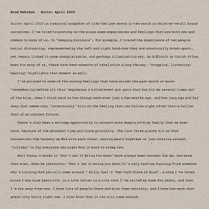 コロナ禍の時代の前奏曲集、ブラッド・メルドー『組曲:2020年4月』