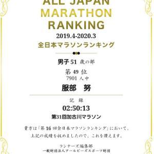 【おめでとう 全日本マラソンランキング】 No.5757