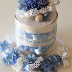 BABYご誕生にダイパーケーキ
