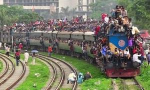 バングラデシュ名物列車(チョットグラム)