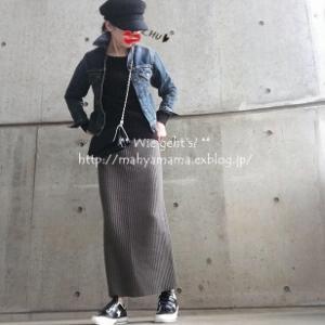 ◆コーデ◆ SHINZONE Gジャン × Deuxieme Classe ニットSK × CONVERSE