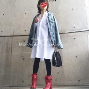 ◆コーデ◆ UA シャツ × ZARA Gジャン × Maison Margiela タビブーツ
