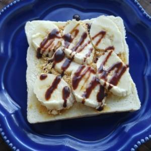 やる気を出す!チョコバナナパンの朝ごパン