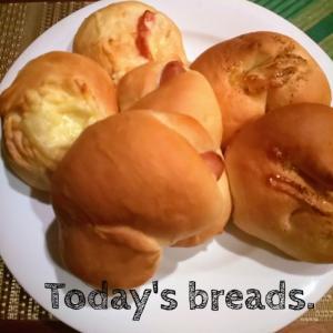 今日の色々パン