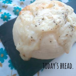 米粉チーズパンで朝ごはん