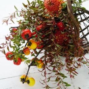 ハナナスで収穫を表す、お花屋さん応援ブーケ