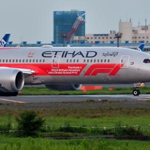 エティハド航空 F1アブダビグランプリ塗装機