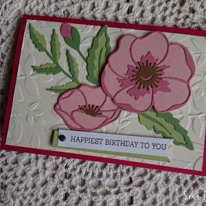 5月誕生日友だちへカードを送りました