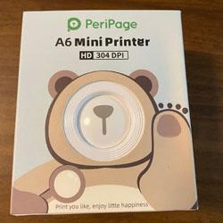 ちっちゃくて超楽しい! スマホから簡単印刷 サーマルプリンタ PeriPage A6 Mini Printer