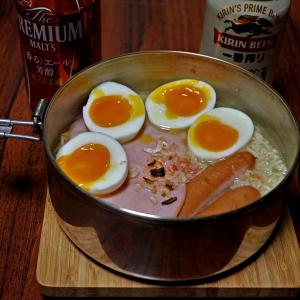 チャンポンめん 半熟々玉子入り ビール