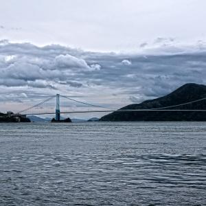 曇天 の 安芸灘大橋
