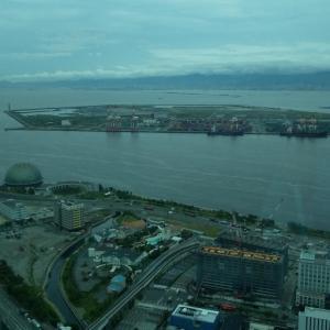展望室からの眺め、2025年の大阪万博予定地?