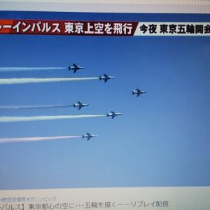 ブルーインパルス、東京上空を飛行