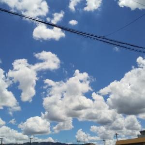 青空と台風