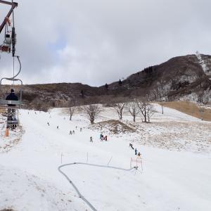 雪がない!ハチ高原スキー場